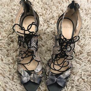 Black snakeskin Alexandre Birman sandals